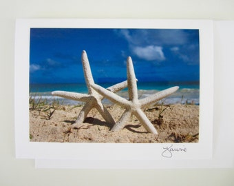 Star Fish on Beach Photo Card