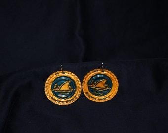 Landshark Bottlecap Earrings