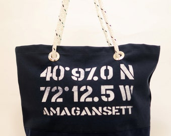 Georgica Bag Co. Sailor's Tote - Amagansett - Navy/Medium