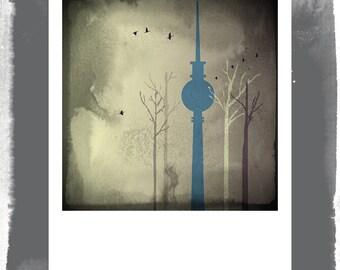 Polaroid postcard - Berlin in the autumn