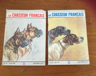 French Vintage 1950's Hunting Magazines 'Le Chasseur Francais