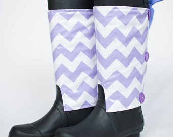 Passion Purple Wraps with Rain Boots