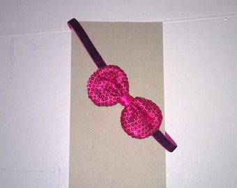 Girls Headband with Sequin Bow