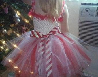 Candy Cane Tutu Dress