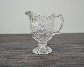 Antique Victorian Clear Glass Milk Jug or Creamer