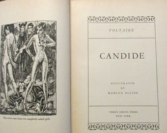 Vintage Book. Candide by Voltaire. 1930 Special Edition Numbered. ***Free Shipping
