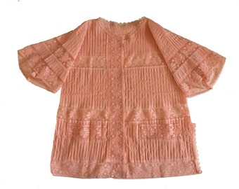 Pink Lace Beach Cover Up