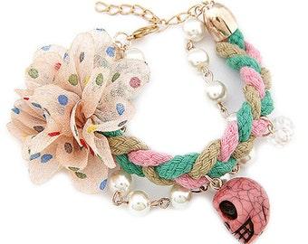 Braided Friendship Bracelet with Charm