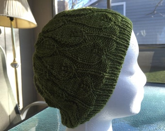 Hand knit woman's hat