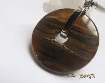 Necklace pendant large Donut Bull