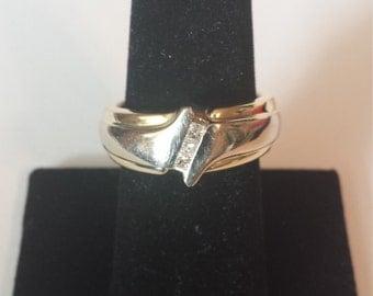 14K Yellow Gold Men's Diamond Ring