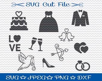 Wedding SVG File / Bridal SVG File / Bride SVG Cut File / Bridal Shower Svg / Bridal Party svg / Engagement svg