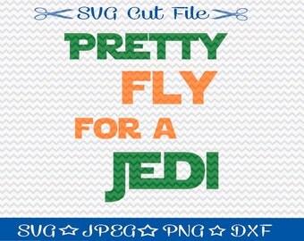 Pretty Fly For A Jedi SVG File / SVG Cut File for Silhouette / Starwars svg / Jedi svg