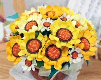 DIY kit - Sunflower Pot (No cutting needed).