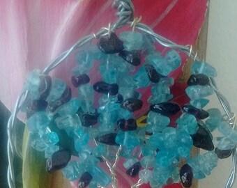 Tree of Life Pendent amethyst & aquamarine
