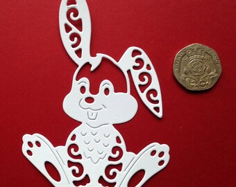 5 x Hare Die Cut (Tattered Lace)