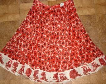 Hermes Paris 100% silk skirt / PROMOTION! Free shipping. Vintage Hermes Skirt