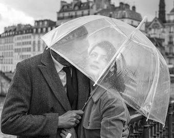 PRINT: Lovers & umbrella - 28x42cm - Print Pro