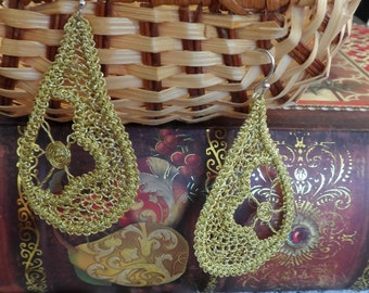 Romanian Point Lace Earrings - 214MG
