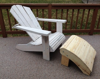 Adirondack Chair Ottoman Outdoor Furniture