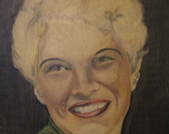 W Grable mid-century woman black roots