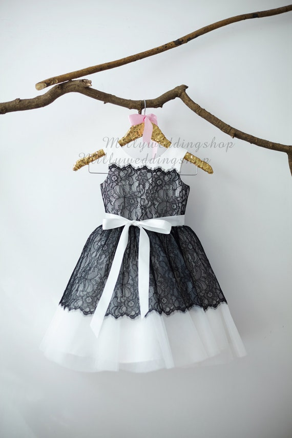 Flower Girl Dresses Ivory And Black 5