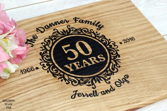 Engraved Wedding Gifts For Parents : Anniversary gift for parents Personalized Cutting Board Wedding Gift ...