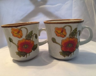 Set of two Poppy Coffee Cups