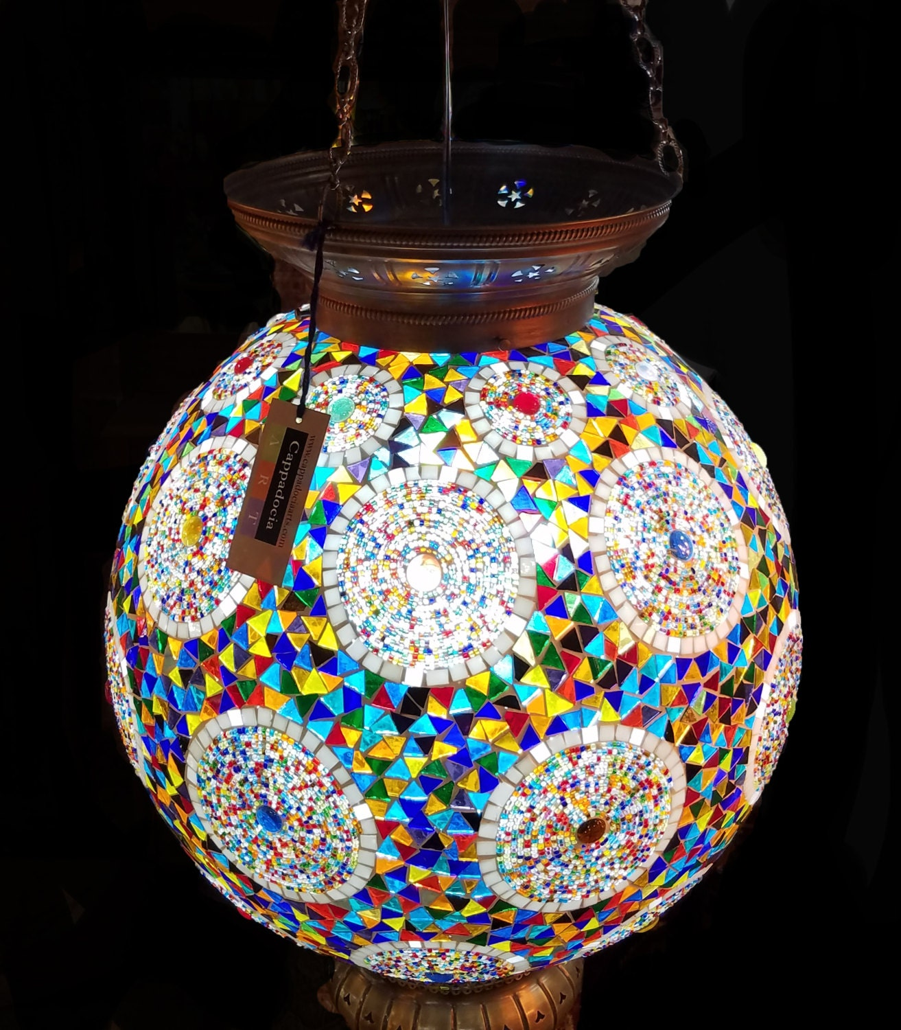 Turkish Handmade Mosaic Chandelier