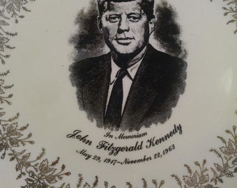 Vintage President Kennedy Plate, Lincoln and Kennedy, Presidental Plates, Presidential Memorabilia, Collectors Item, Father's Day, JFK