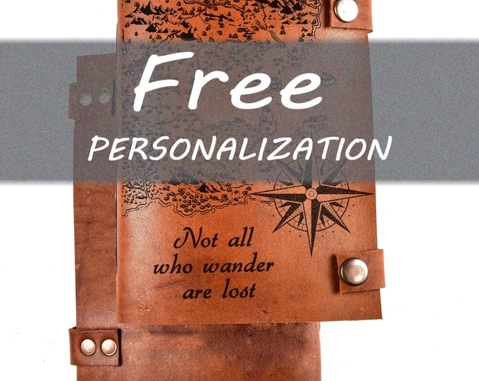 Free personalization - custom order - leather journal - free customization - personal notebook - custom journal - your picture on the cover