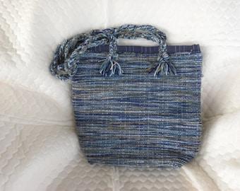 Hand woven bag 14.5w x 13h x 5.5deep
