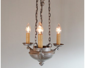 A8447 Antique Art Deco Candle Chandelier Ceiling  Light Fixture