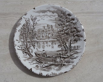 china plate with landscape