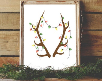 Antler Light Etsy Uk