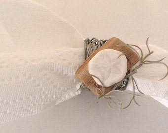 Sand Dollar Napkin Rings (Set 8)