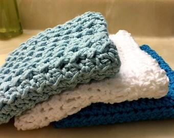 Crochet Cotton Washcloths / Dishcloth