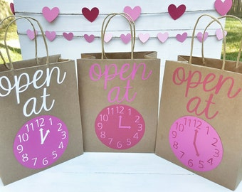 Custom Gift Bags - Custom Valentine's Day Bags - Customized Paper Gift Bags - Gifts By The Hour - Custom Gift Bag
