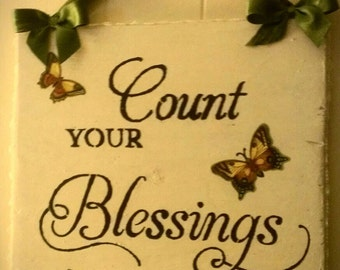 Count Your Blessings /Butterfly Sign