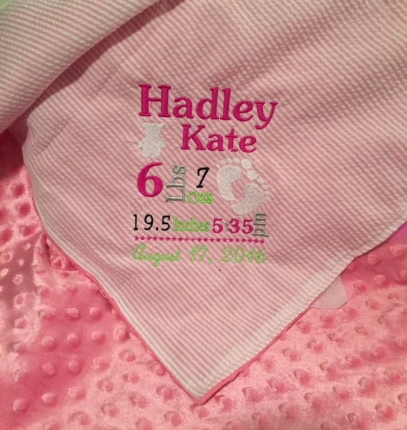 Personalized Birth Announcement Blanket