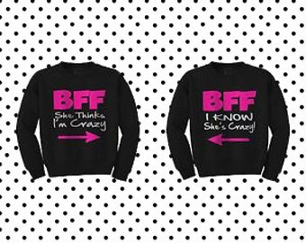 BFF Sweaters best friends forever matchings weaters