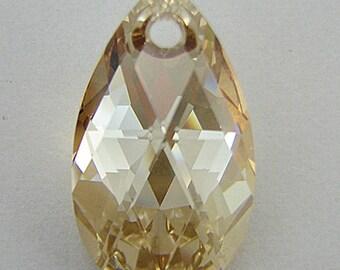 28mm Swarovski crystal teardrop pendant 6106 golden shadow 4608