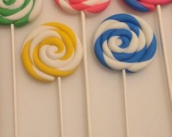 Fondant Swirl Lollipops