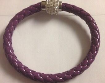 Midwrist ringstone cuff bangle handmade