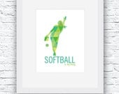 Softball Pitcher Digital ...