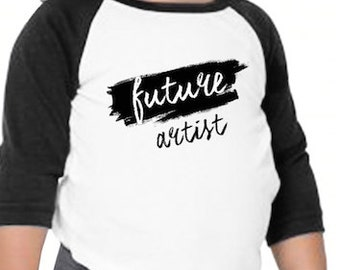 Future Artist Baby Toddler Shirt - Organic Cotton - Victorian - Screen Printed - Baby Clothes - Made in USA