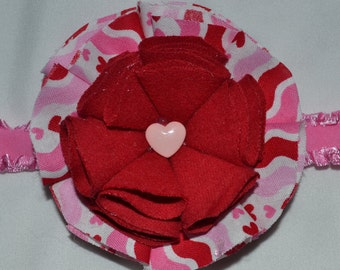 pink/ white/ red/ hearts/ headband