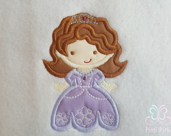 Sofia the First  Personalized Appliqued Short sleeve Bodysuit Shirt or Bib - Personalized Sofia Shirt