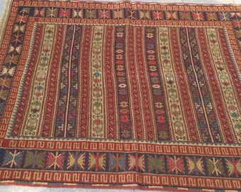 "Etnigue rug,embrodery wool rug ,trible kilim rug.""1.44×1.02"" cm .kurdish trible rug."