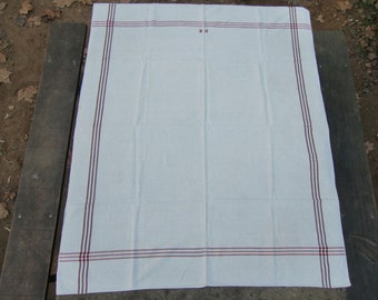 ANTIQUE LINEN TABLECLOTH